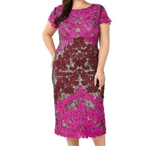 JS Collections Two Tone Soutach Dress 14